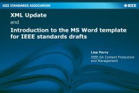 Introduction To The Ms Word Template For Ieee Standards Drafts  Ppt intended for Ieee Template Word 2007
