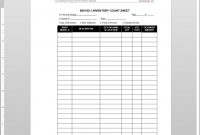 Inventory Count Worksheet Template intended for Business Process Inventory Template