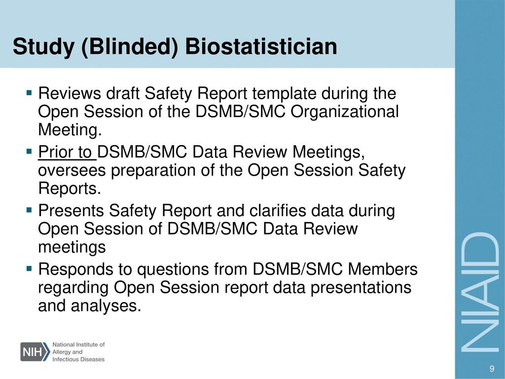 Investigator Training  Ppt Download With Regard To Dsmb Report Template