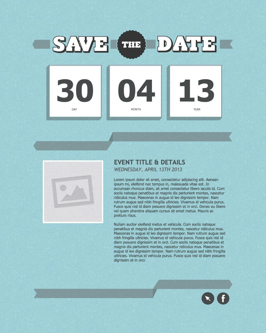 Invitation Email Marketing Templates  Invitation Email Templates Inside Save The Date Business Event Templates