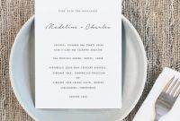 Invitation  Printable Wedding Menu Template   Weddbook inside Menu Template For Pages