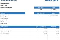 Invoice for South African Invoice Template