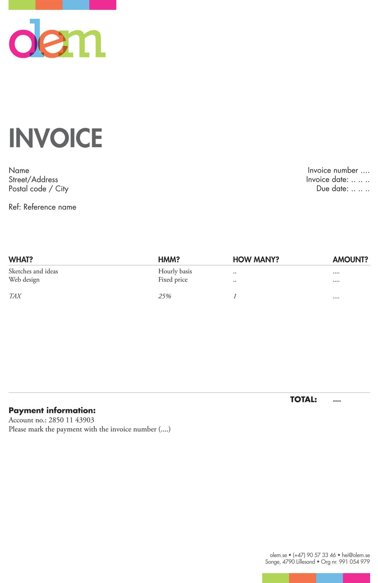 Invoice Like A Pro Design Examples And Best Practices  Biz Cards In Invoice Template For Graphic Designer Freelance