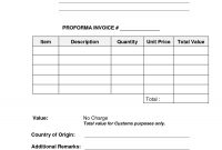 Invoice Proforma Sample Sample Shipping Invoice International with regard to International Shipping Invoice Template