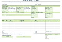 Invoice Template For Word pertaining to Template Of Invoice In Word