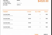 Invoice Template  Send In Minutes  Create Free Invoices Instantly regarding Invoice Template Uk Doc