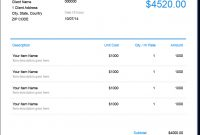 Invoice Template  Send In Minutes  Create Free Invoices Instantly throughout Quickbooks Invoice Templates Free Download