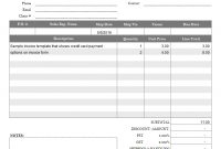Invoice Template With Credit Card Payment Option regarding Credit Card Receipt Template