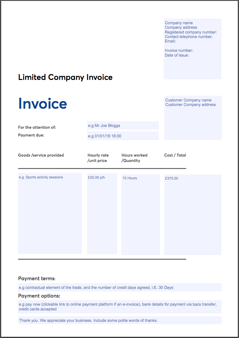 Invoicing Templates With Image Of Invoice Template