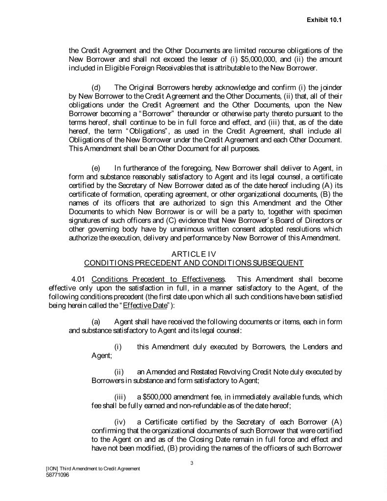 Ionthirdamendmentandjb In Revolving Credit Facility Agreement Template