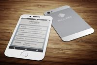 Iphone   Off Business Cardjigsawlab On Creativemarket regarding Iphone Business Card Template