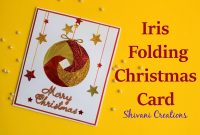 Iris Folding Christmas Ornament Card Handmade Greeting Card For pertaining to Iris Folding Christmas Cards Templates