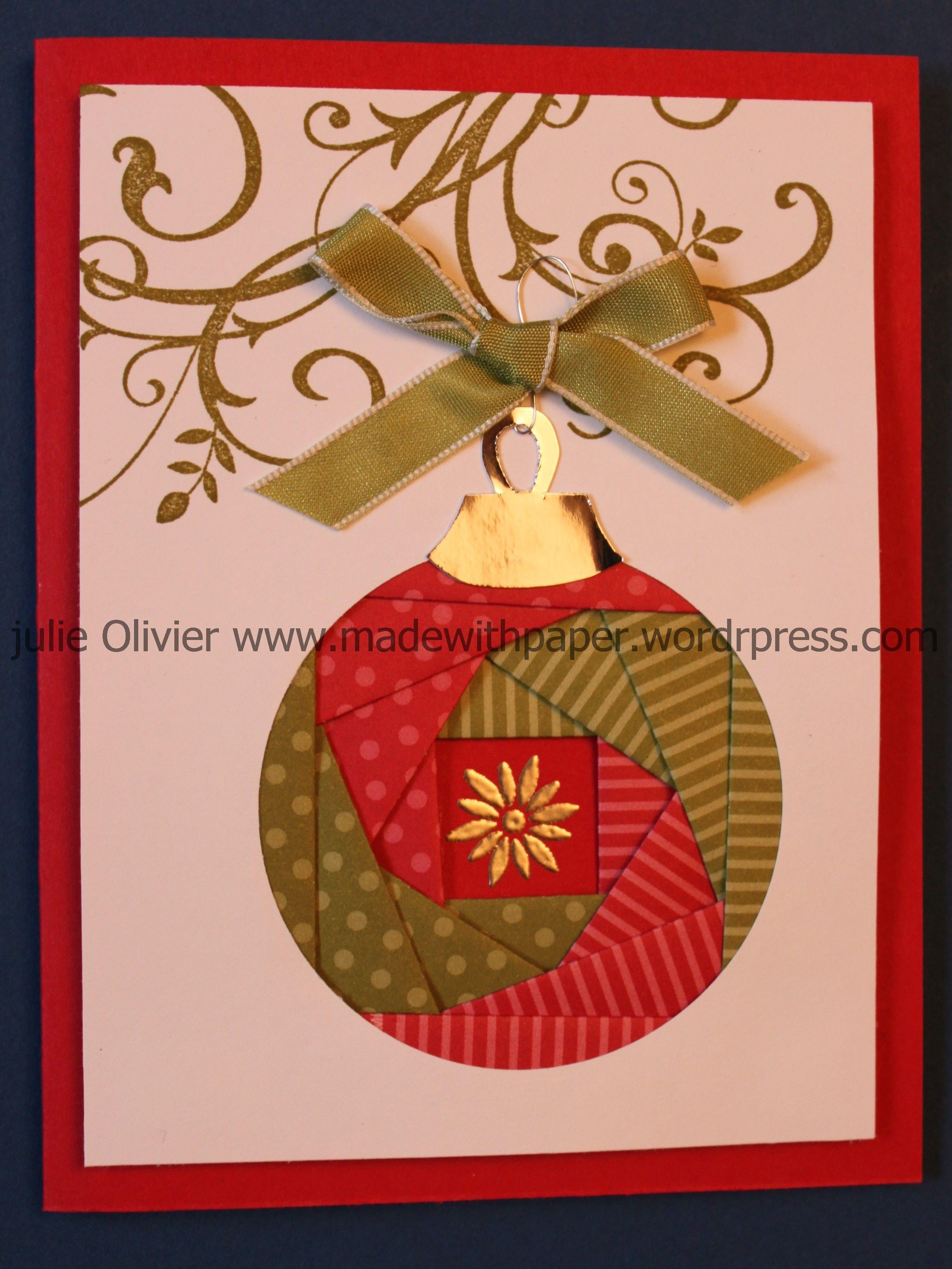 Iris Folding Christmas Ornament  Cards  Iris Folding  Iris Inside Iris Folding Christmas Cards Templates