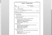 It Incident Report Template with Incident Report Log Template