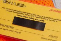 Iteam Fake Osha Cards Put Construction Workers At Risk with Osha 10 Card Template