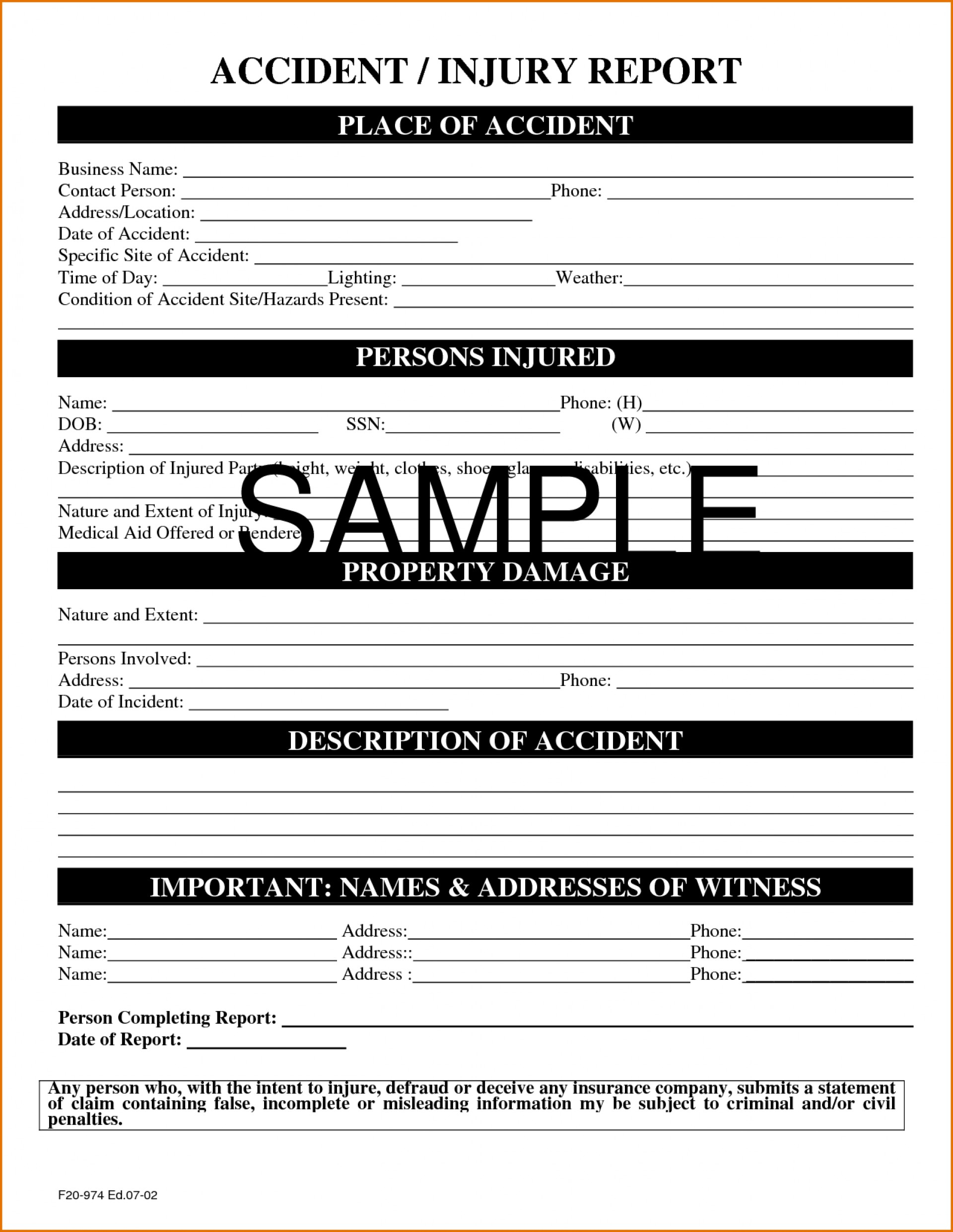 Itil Incident Report Form Template Awesome Free Printablerd Drop Throughout Incident Hazard Report Form Template