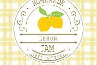 Jam Label Design Template For Lemon Dessert Vector Image pertaining to Dessert Labels Template