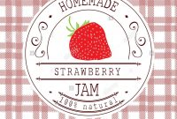 Jam Label Design Template For Strawberry Dessert Product With Hand inside Dessert Labels Template