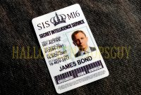 James Bond Style Pvc Id Card Badge James Bond Or  Etsy with Mi6 Id Card Template
