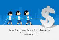 Jane Tug Of War Powerpoint Template  Slidemodel inside Powerpoint Templates War