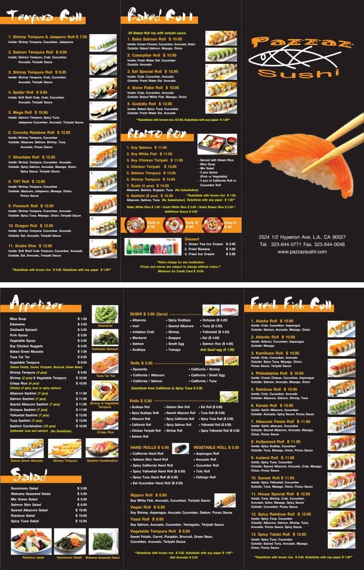 Japanese Restaurant To Go Menu Design And Printing Wwwinprintla With Regard To To Go Menu Template