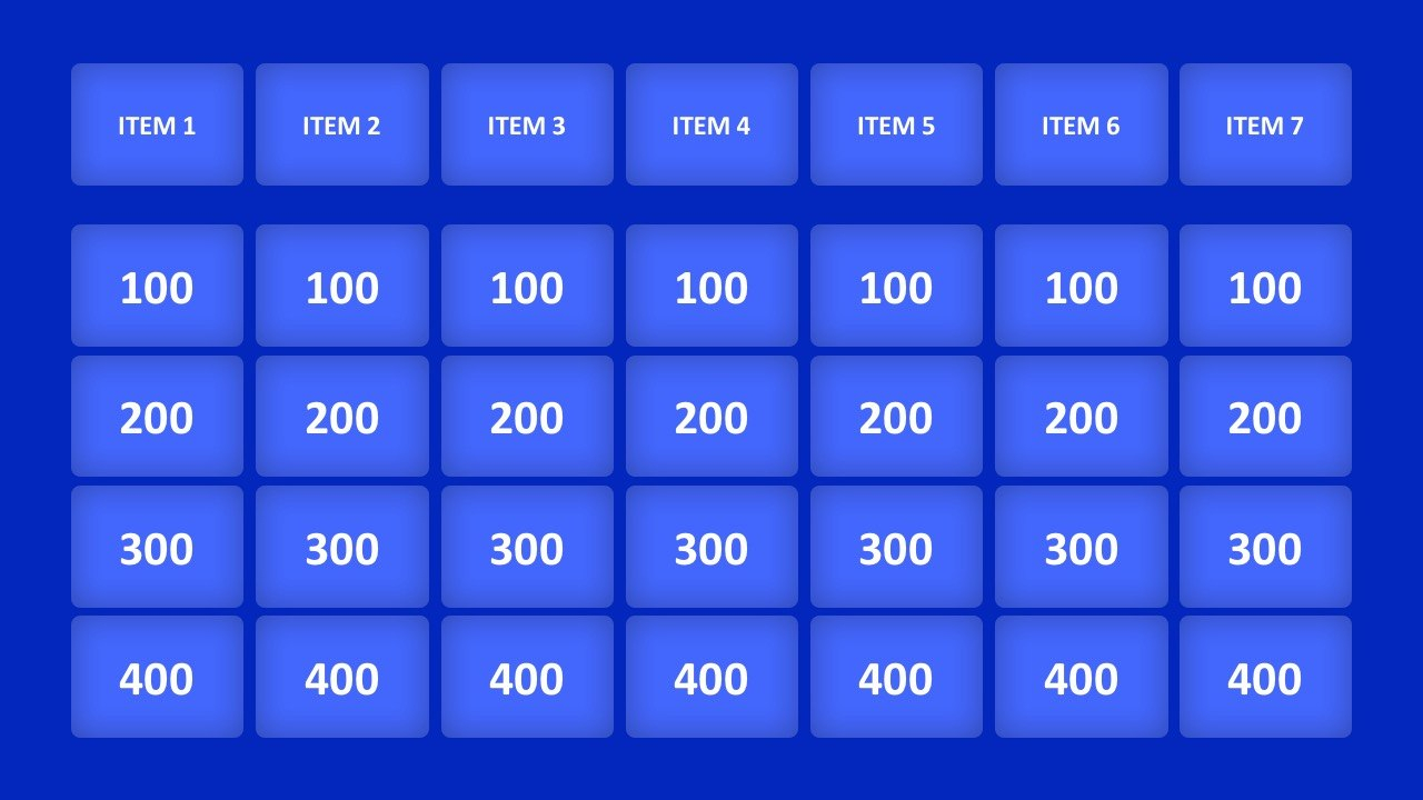 Jeopardy Game Powerpoint Templates In Jeopardy Powerpoint Template With Sound