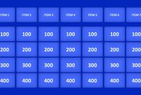 Jeopardy Game Powerpoint Templates in Quiz Show Template Powerpoint