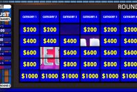 Jeopardy  Rusnak Creative Free Powerpoint Games intended for Jeopardy Powerpoint Template With Score