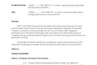 Joint Venture Agreement Property Ownership  Templates At regarding Joint Property Ownership Agreement Template