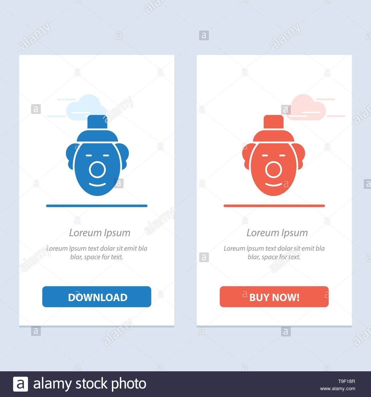 Joker Clown Circus Blue And Red Download And Buy Now Web Widget Regarding Joker Card Template