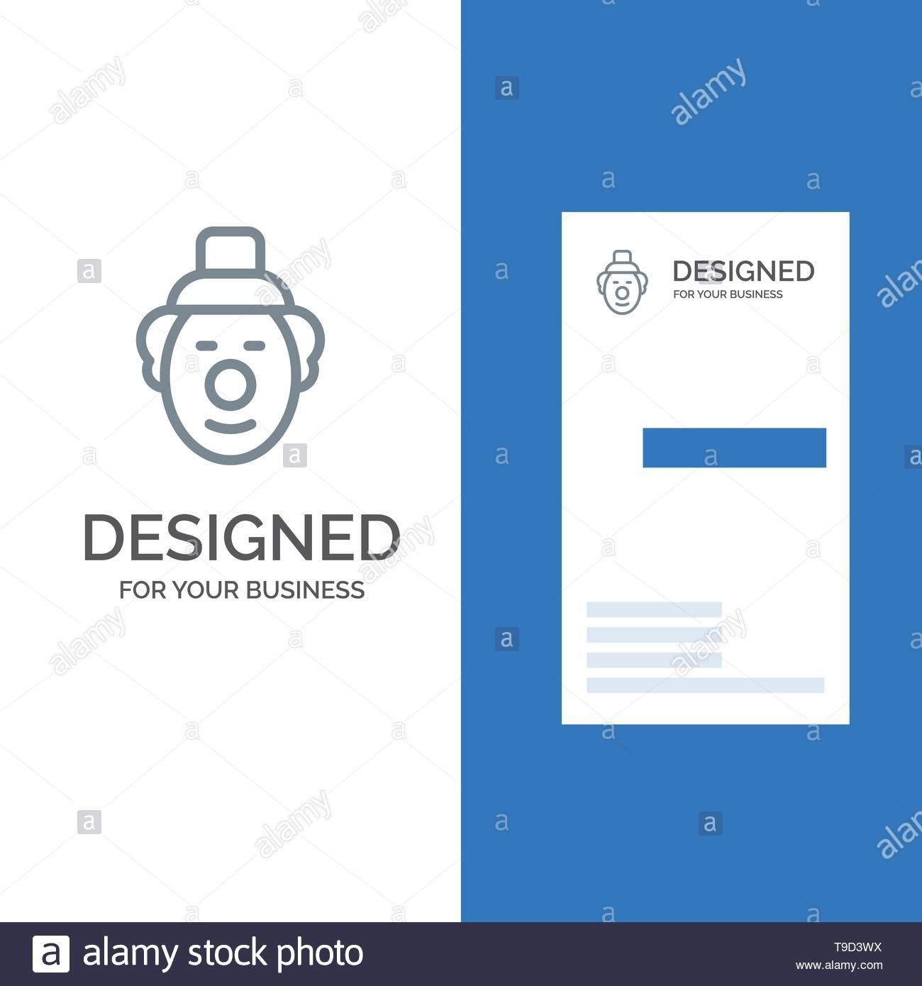 Joker Clown Circus Grey Logo Design And Business Card Template Regarding Joker Card Template