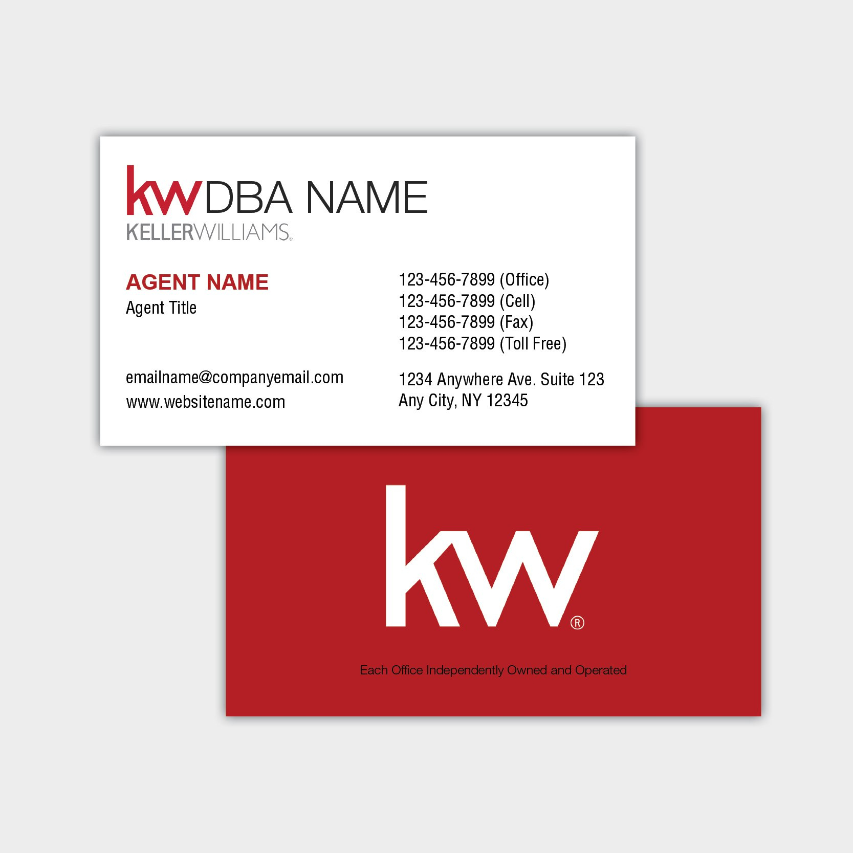 Keller Williams Business Card Inside Keller Williams Business Card Templates