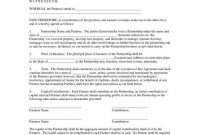 Key Clauses That Strengthen Business Partnership Agreements  Free with regard to Contract For Business Partnership Template