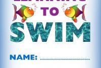 Kids Certificate For Learning To Swim  Swim  Learn To Swim Swim in Swimming Certificate Templates Free