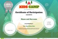 Kids Certificate Template In Vector Stock Vector  Illustration Of regarding Free Kids Certificate Templates