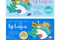 Kids  Christmas Gift Certificate Stock Vector  Illustration Of in Kids Gift Certificate Template