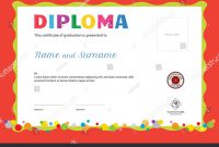 Kids Summer Camp Diploma Certificate Template Stock Vector Royalty with regard to Summer Camp Certificate Template