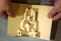 Kirigami Bear Pop Up Card  Youtube inside Teddy Bear Pop Up Card Template Free