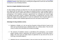 Know The Value Of Mediation Services And Make The Most Of It within Mediation Outcome Agreement Template