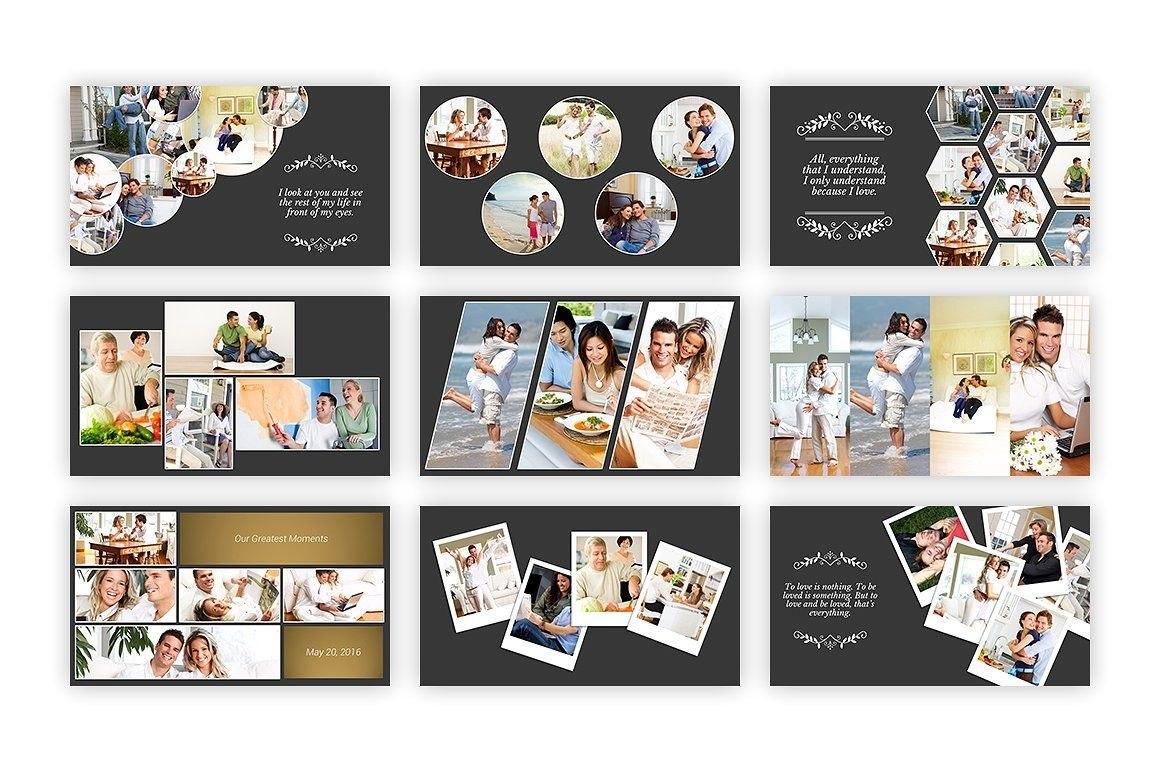 Kolase  Powerpoint Template Collageperfectalbumfamily  Design With Regard To Powerpoint Photo Album Template