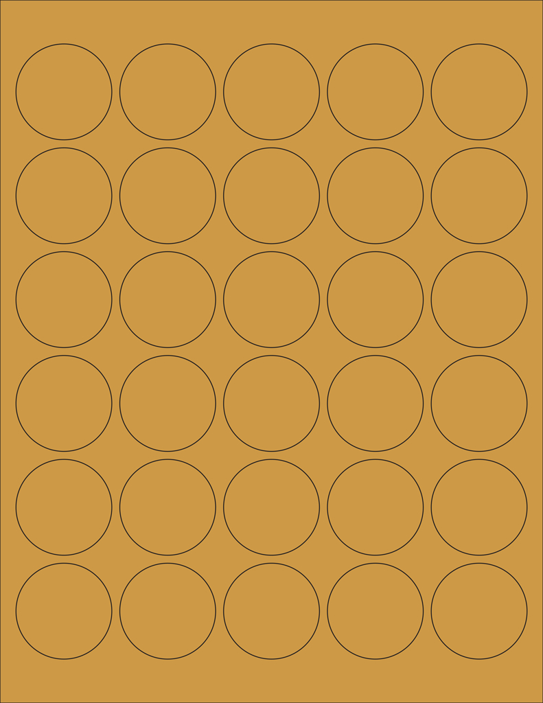 """Kraft Labels  """" Circle A   Wholesale Supplies Plus In 1.5 Circle Label Template"""