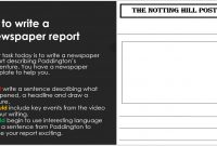 Ks Paddington Bear Christmas Advert Literacy Lesson – Newspaper inside Report Writing Template Ks1