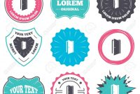 Label And Badge Templates Door Sign Icon Enter Or Exit Symbol pertaining to Door Label Template