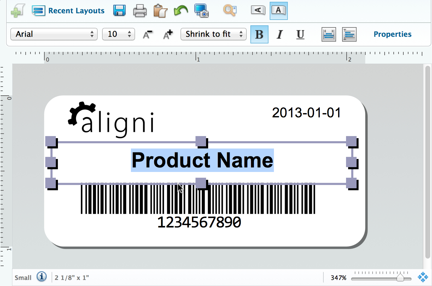 Label Printing  Aligni With Label Printing Template Free