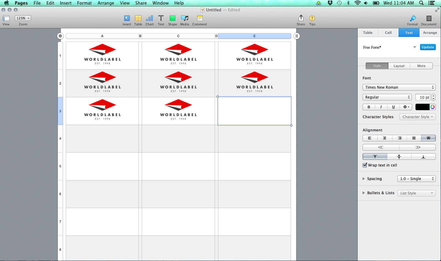 Label Templates For Pages For A Mac Released  Free Printable Labels Pertaining To Address Label Template For Mac