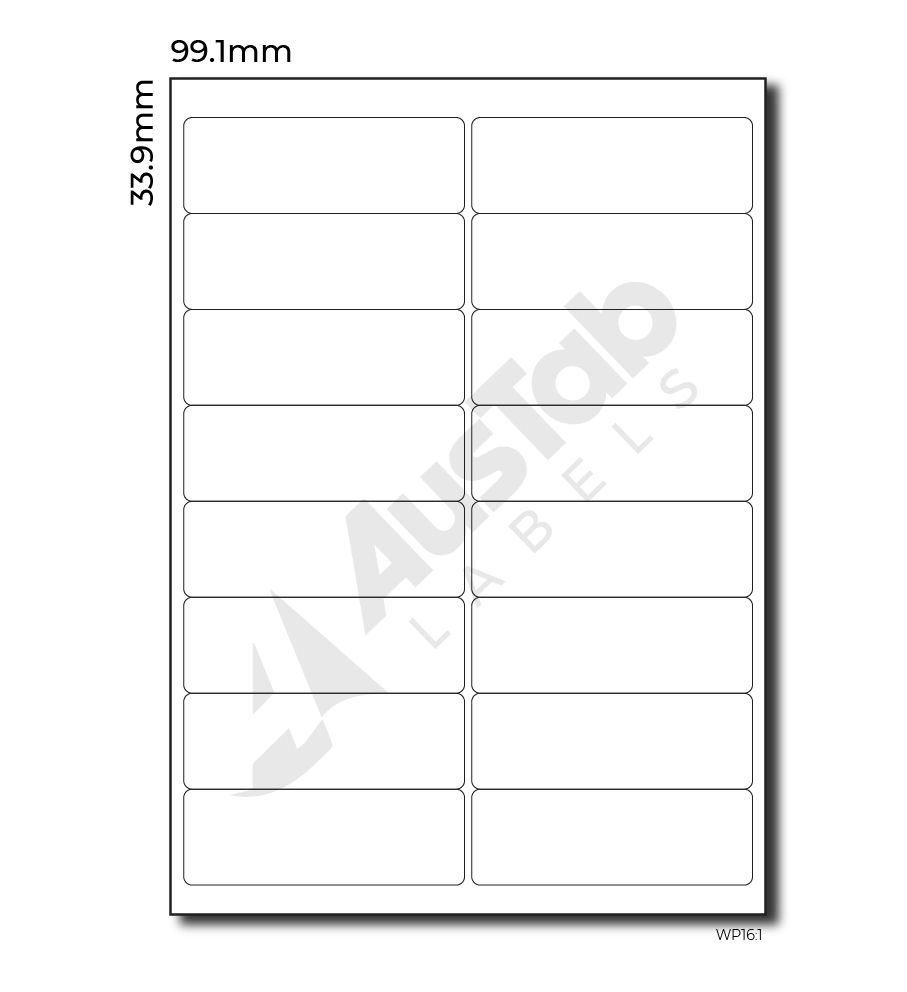 Labels Per Page – Mm X Mm  Austab Labels Throughout Labels 16 Per Page Template