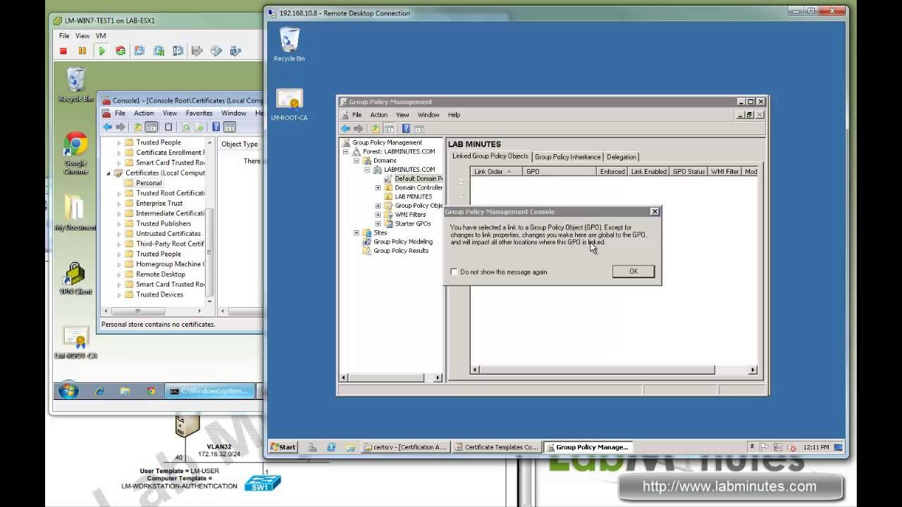 Labminutes Sec  Windows  Ca User And Computer Certificate With Regard To Workstation Authentication Certificate Template