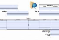 Labor Invoice Template Free – Amandaeca with Parts And Labor Invoice Template Free