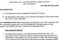 Labor Smart Inc  Form Sa  Ex  Shareholder Loan with S Corp Shareholder Agreement Template