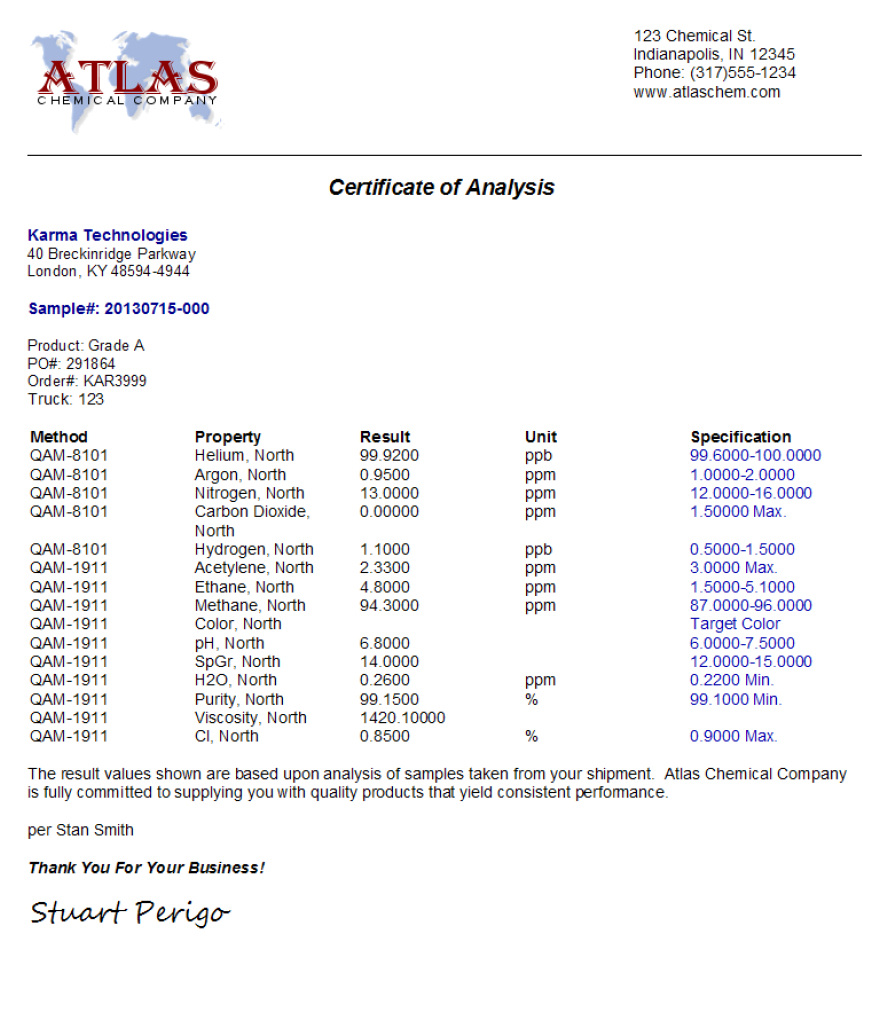 Labsoft Lims Certificates Of Analysis Coa Management With Certificate Of Analysis Template